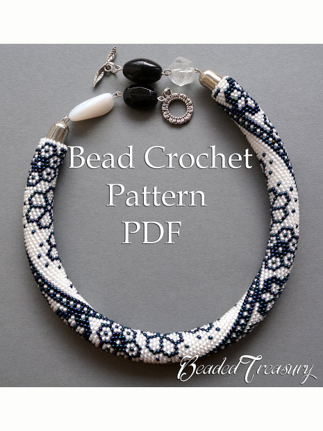 Winter Lace Bead Crochet Necklace Pattern Bead Crochet Rope