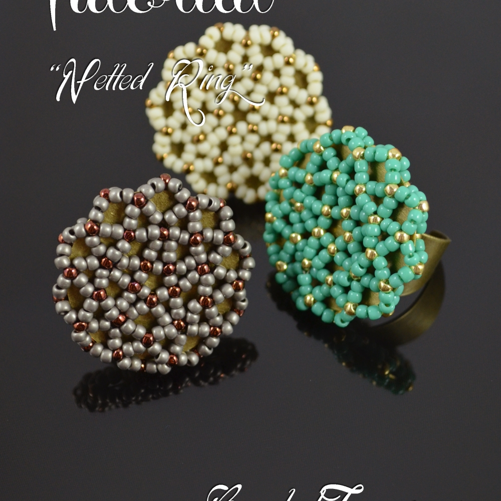 Netted Ring Seed Bead Pattern Beadwoven Ring Tutorial