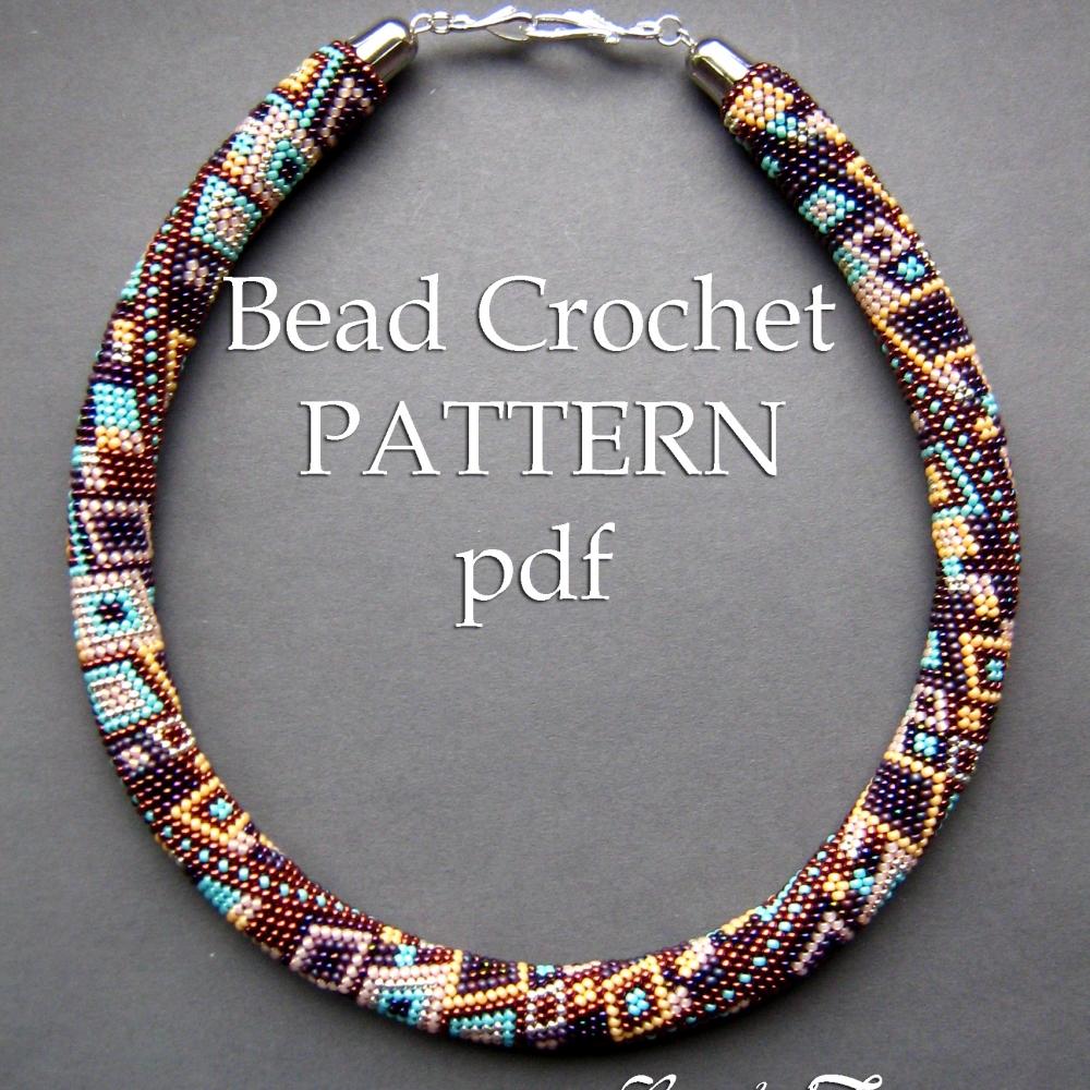 Skyscraper Bead Crochet Necklace Pattern Bead Crochet