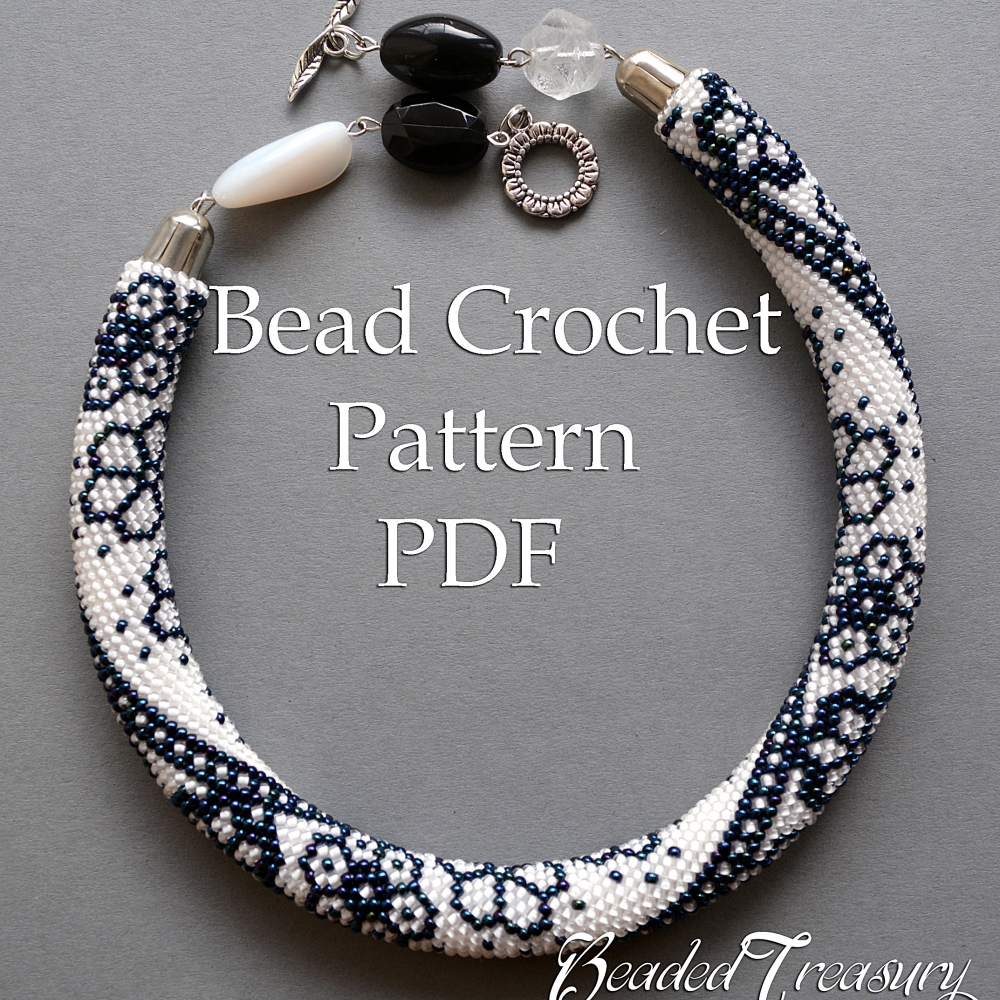Free seed bead rope bracelet patterns step by step