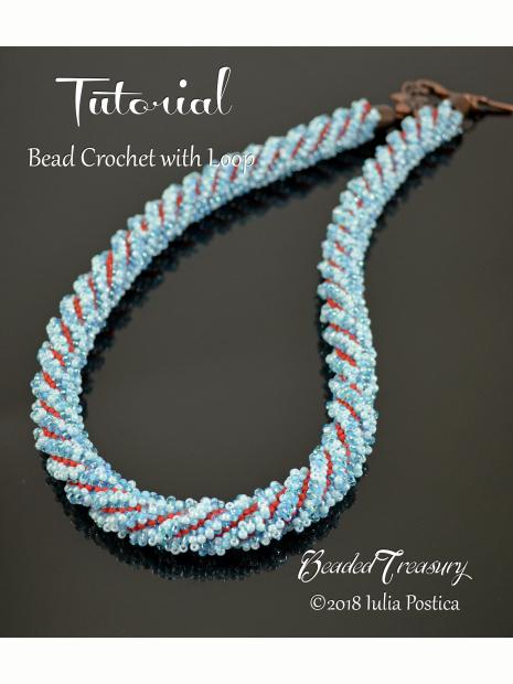 Bead Crochet With Loop Necklace Tutorial Beadedtreasury