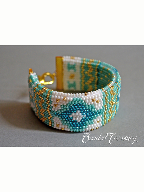 Mediterranean Breeze Bead Crochet Bracelet Pattern Tutorial Beaded Only