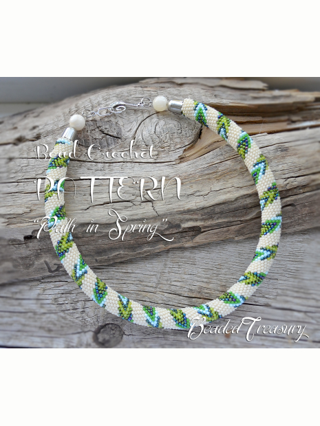 Path In Spring Bead Crochet Necklace Pattern Crochet Rope