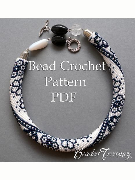 Winter Lace Bead Crochet Necklace Pattern Bead Crochet Rope