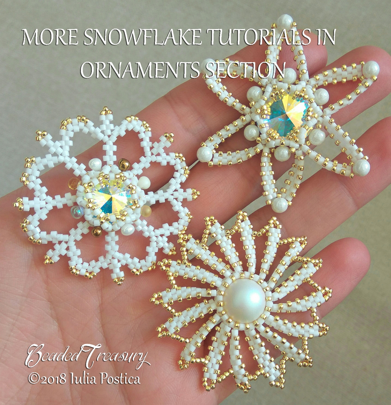 STAR SNOWFLAKE Beaded Christmas Ornament Pattern ...