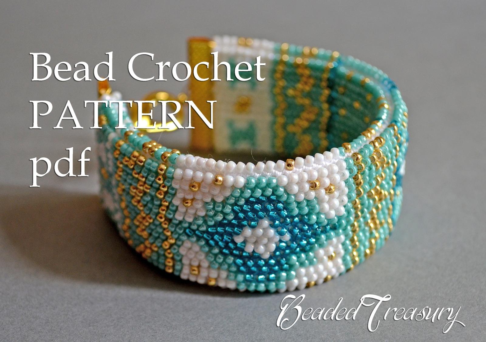 Mediterranean Breeze Bead Crochet Bracelet Pattern Bead Crochet