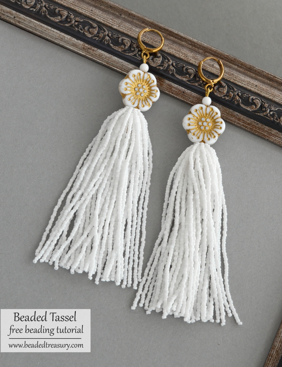 Mixture of Beads and Strings Tassel Earrings ANALY